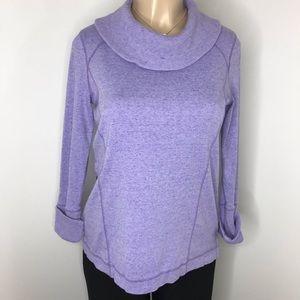 TALBOTS Purple Long Sleeve Cowl Neck Top Size XS